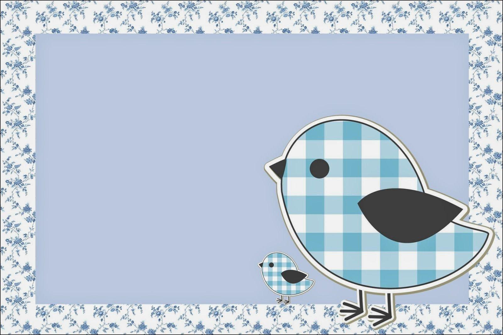 Blue Bird Free Printable Invitations