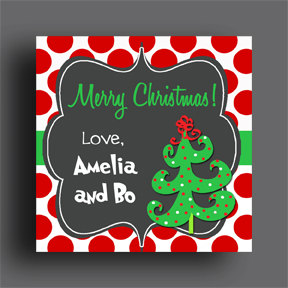 c70255f42d0a6 Personalized Christmas Gift Tags or Labels - Party Favor Tags ...