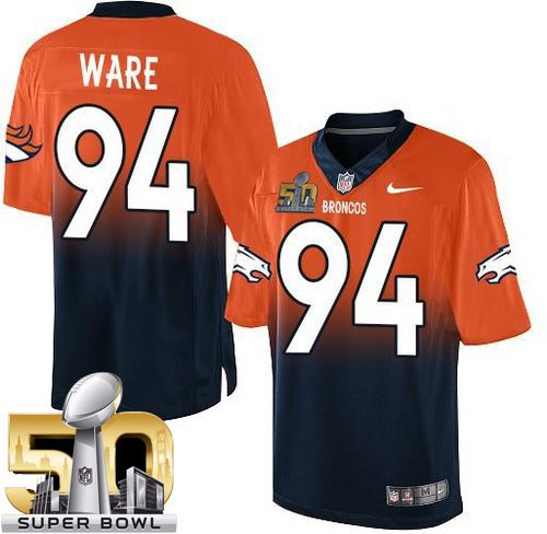 Nike Broncos  94 DeMarcus Ware Orange Navy Blue Super Bowl 50 Men s  Stitched NFL 09f709bf9