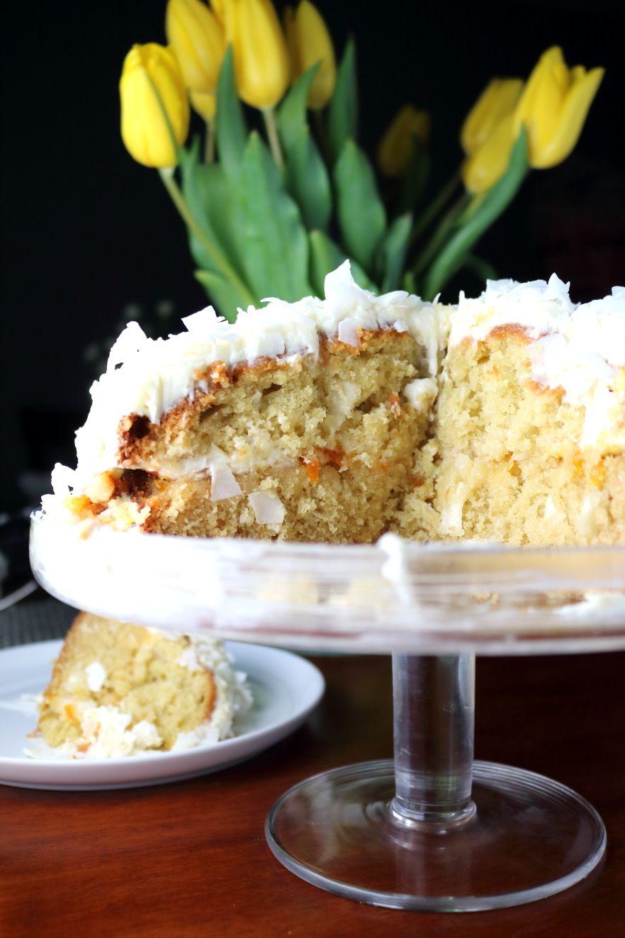 Orange cake with coconut filling recipe