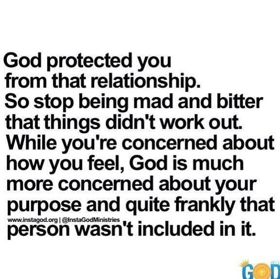 This put a huge smile on my face and a greater understanding in my heart.....God knows better and I thank him for his protection and guidance.