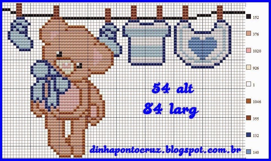 Largura:54 Altura: 54 | ponto cruz | Pinterest | Zur geburt und Die ...