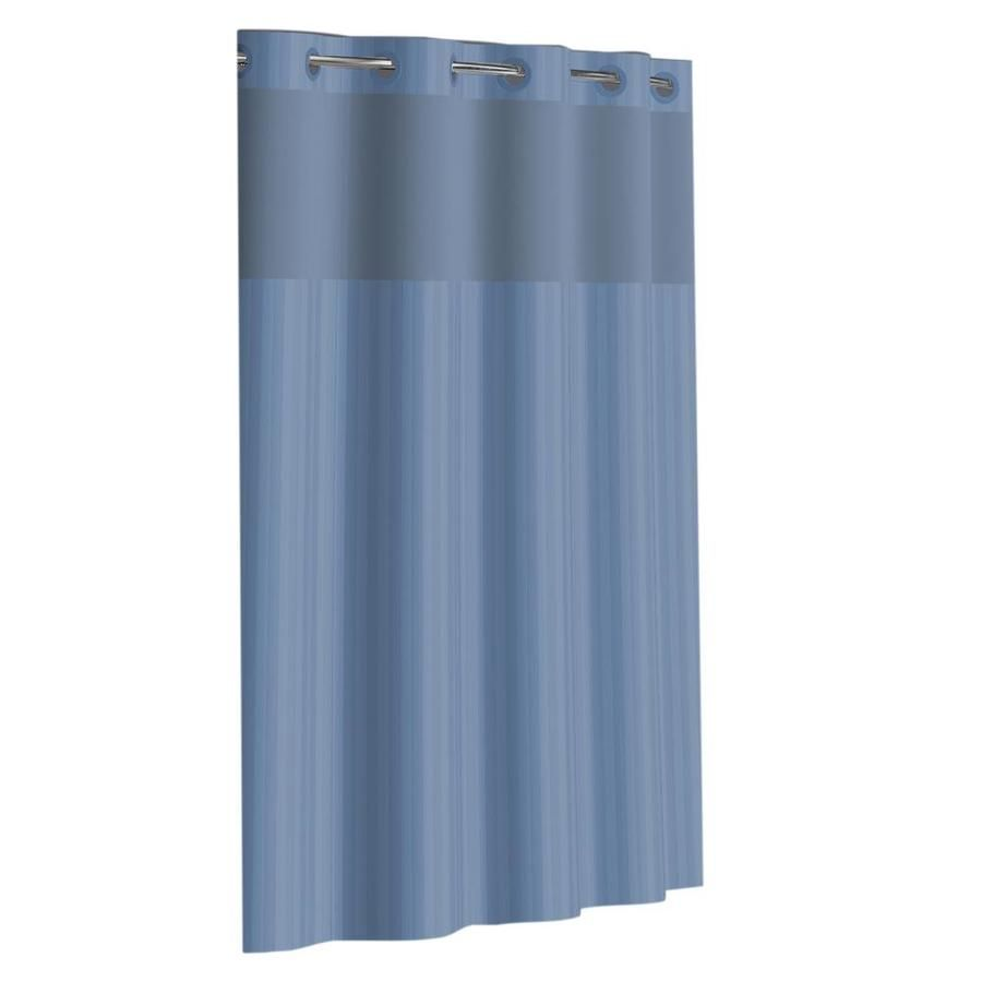 Hookless Hookless Blue Shower Curtain 71x74 With Peva Liner