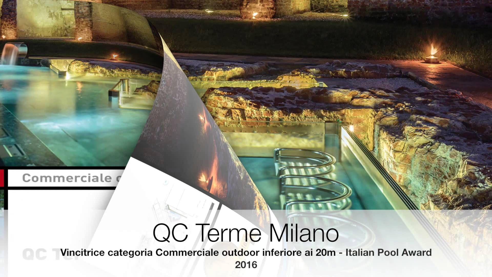 Video piscina commerciale outdoor inferiore a 20 metri vincitrice Italian Pool Award 2016. Piscina candidata da QC TermeMilano.