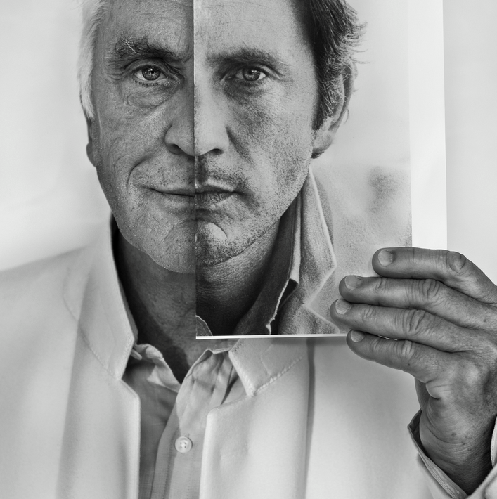 Photographer CBetina La Plante PLACE PEOPLE 2012 World Open Of Photography Photo Description Actor Terence Stamp Holding A Photograph Himself Taken