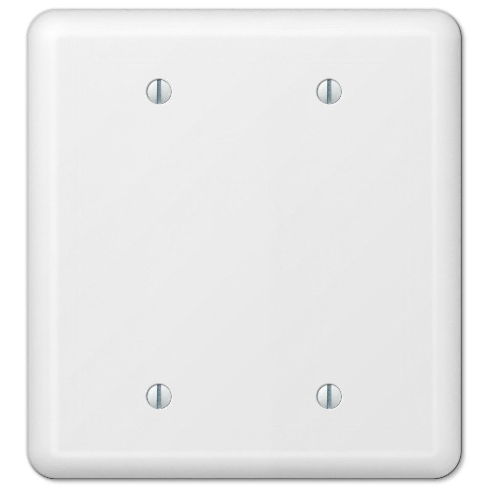 Blank Switch Plate Captivating Amerelle Devon 935Bbw White Double Blank Wall Plate Cover Inspiration