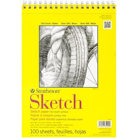 9x12 Wire Bound 40 Sheets Strathmore 300 Series Mixed Media Pad