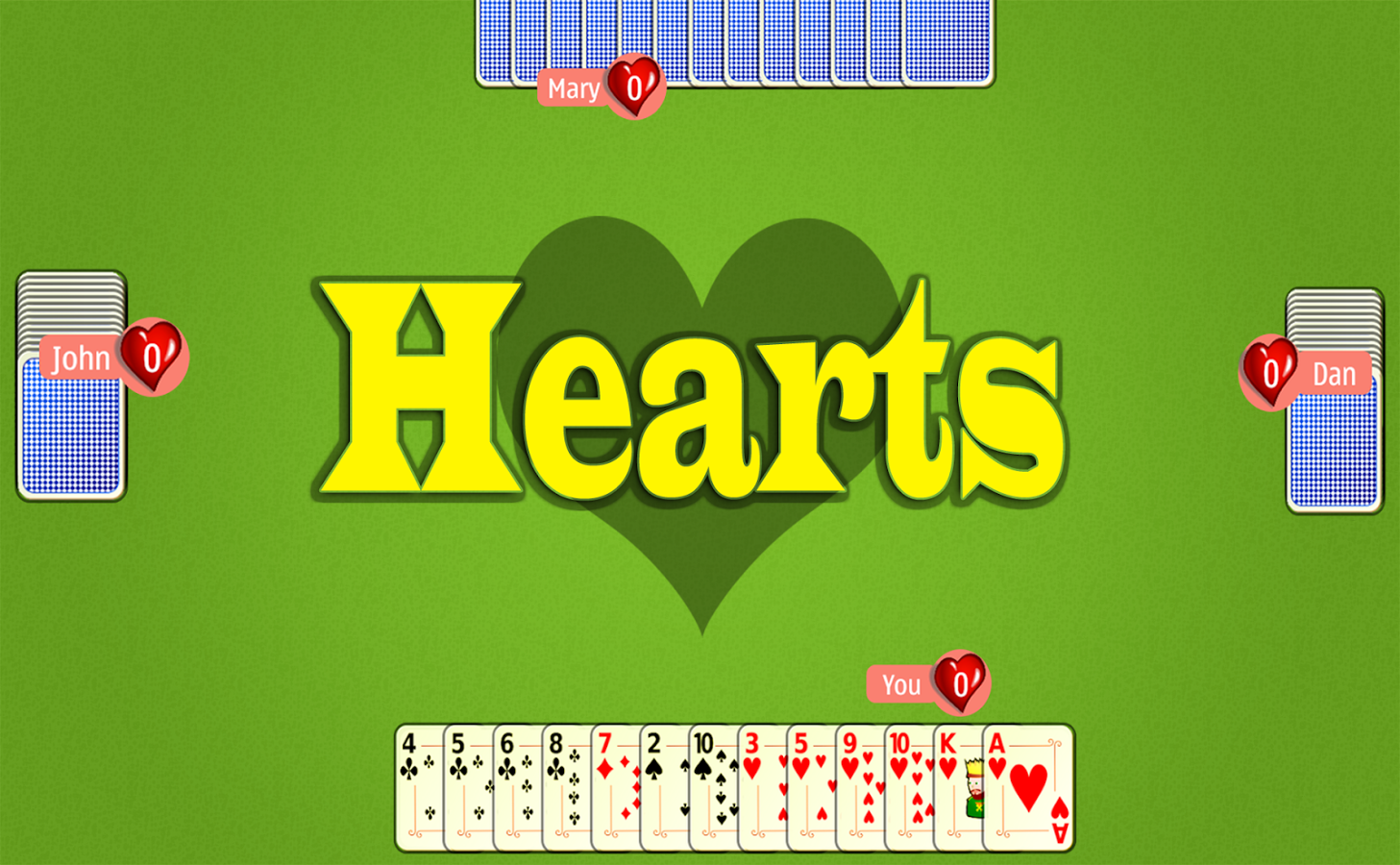 Free Online Hearts • Play Free Hearts Card Game Hearts