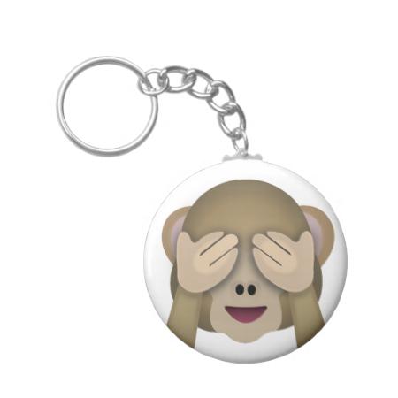 Three Wise Monkeys Emoji Key Ring