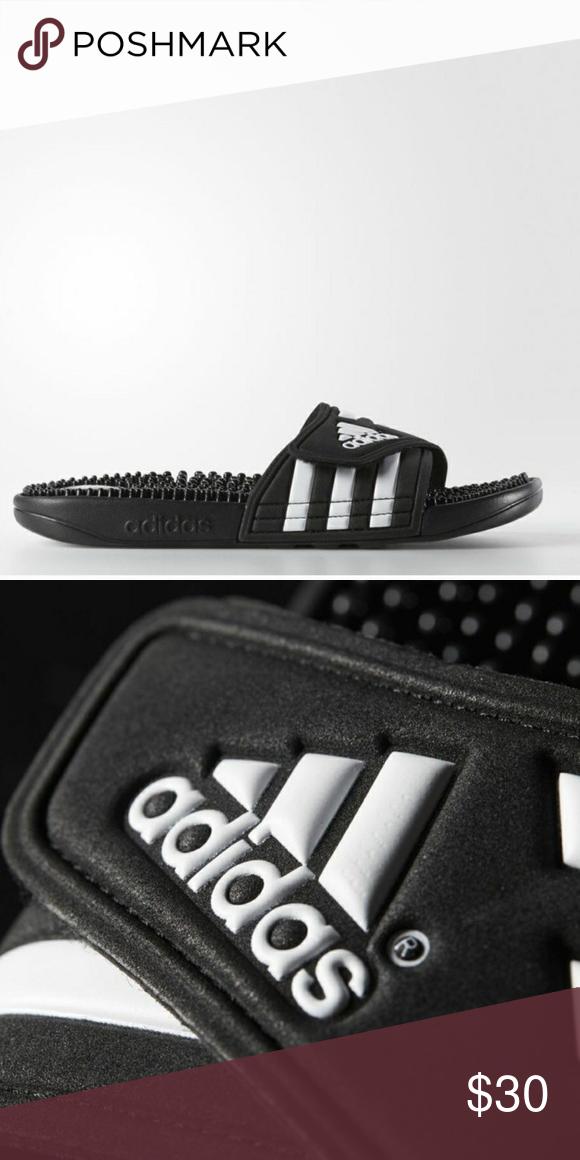 7f11122444689 Adidas slides NWOT adissage slides Never worn. Quick drying slip on with  adjustable strap.