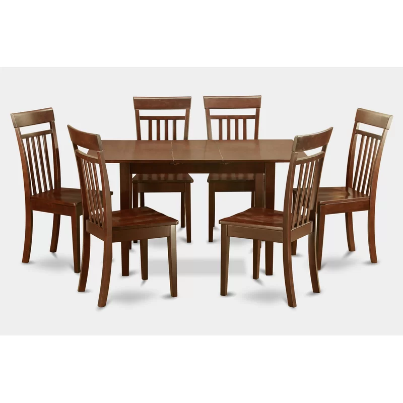 Antonio Butterfly Leaf Solid Wood Breakfast Nook Dining Set Nook Dining Set Transitional Dining Room Sets Dining Table