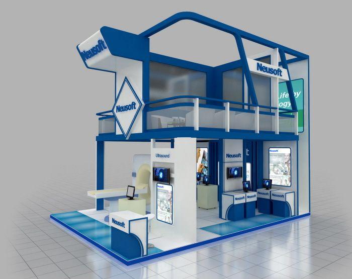 Exhibition Stand Double Decker : Double decker exhibit created by triadcreativegroup