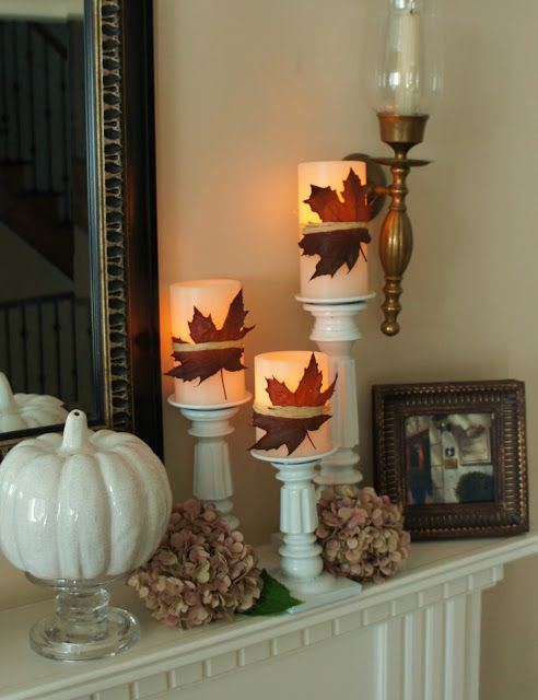 Decorar con hojas secas toques decorativos pinterest for Decoracion con hojas secas