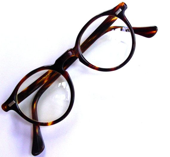 510f5b83245 1980s Preppy Round Horn Rimmed Glasses by GoodlookinVintage Richard ...