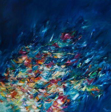 "Saatchi Online Artist Victoria  Horkan; Painting, ""4000 Breaths Under the Sea"" #art"