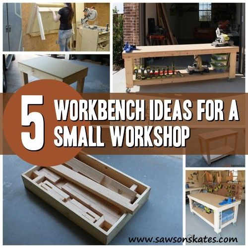 6 diy workbench ideas for a small workshop woodworking on garage organization ideas that will save you space keeping things simple id=96589