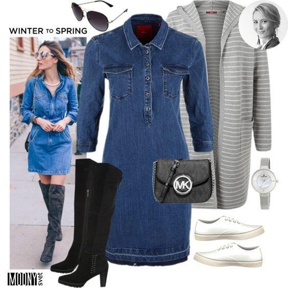 Riflové šaty – super nadčasový kúsok! 👌 Môžete ich nosiť na rôzne spôsoby.  Počas chladných dní ich skombinujte s kabátom a vysokými čižmami. 41fadc033e0