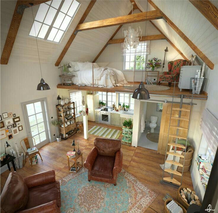 Love the concept of a open loft/bedroom | Tiny house design ...