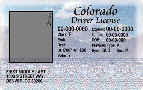 colorado-drivers-license-templates-picture | d | Pinterest | Recipes