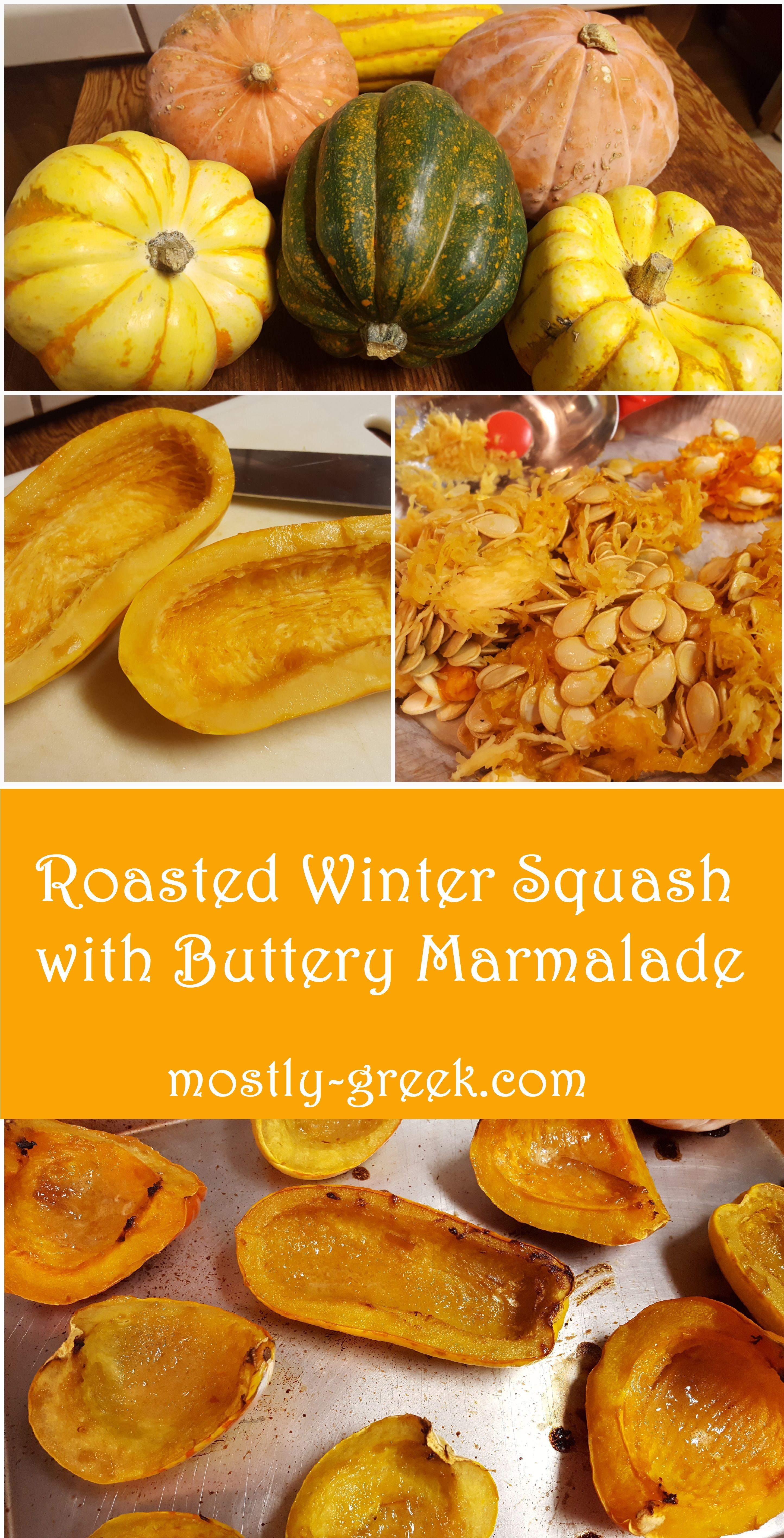 Roasted Winter Squash With Buttery Marmalade Greek Cooking
