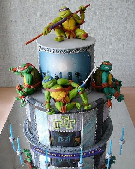 Teenage Mutant Ninja Turtles Cake Awesome birthday cake made for