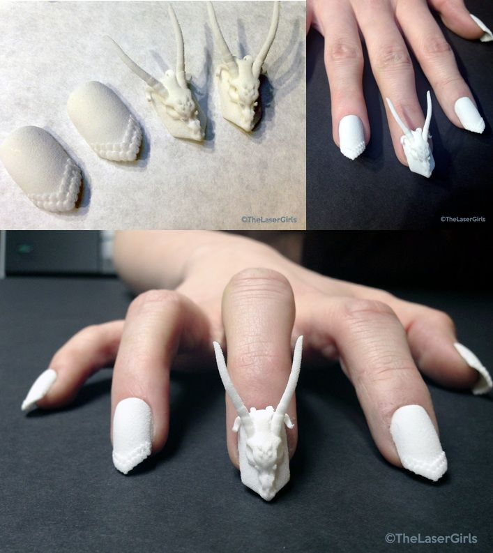 20 Acrylic Matte 3d Printed Nails Ideas You Must Know This Fall
