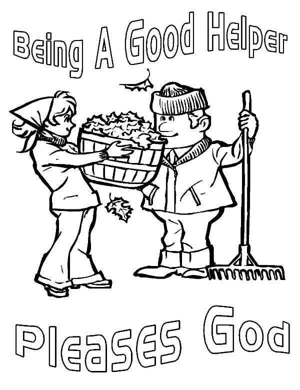 Kindness Is Being A Good Helper Coloring Pages Christian Coloring Coloring Pages Jesus Coloring Pages