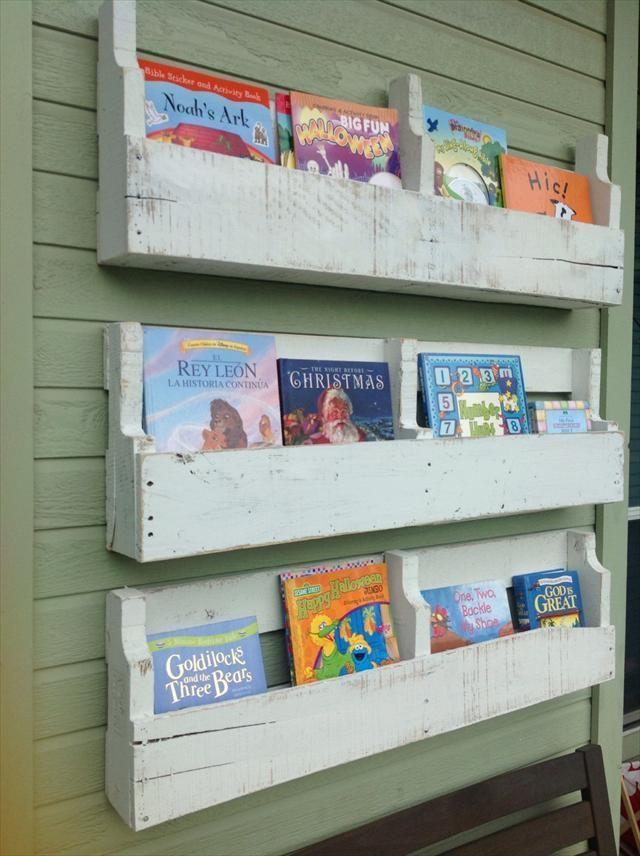 Estanter as para libros de palet librer as de palets - Estanterias de palets ...