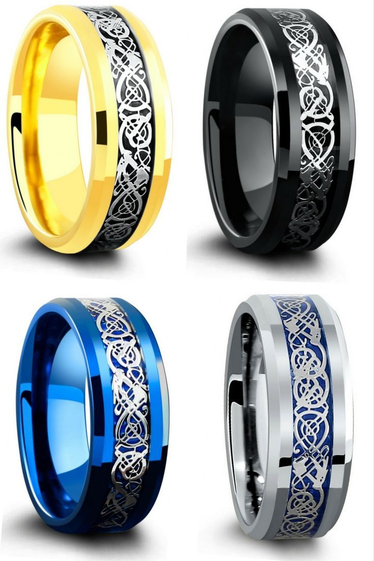 The Most Unique Mens Celtic Wedding Rings These Celtic Rings Have Been Crafted Out Of Tungsten Carb Rings For Men Celtic Rings Women Modern Mens Wedding Rings
