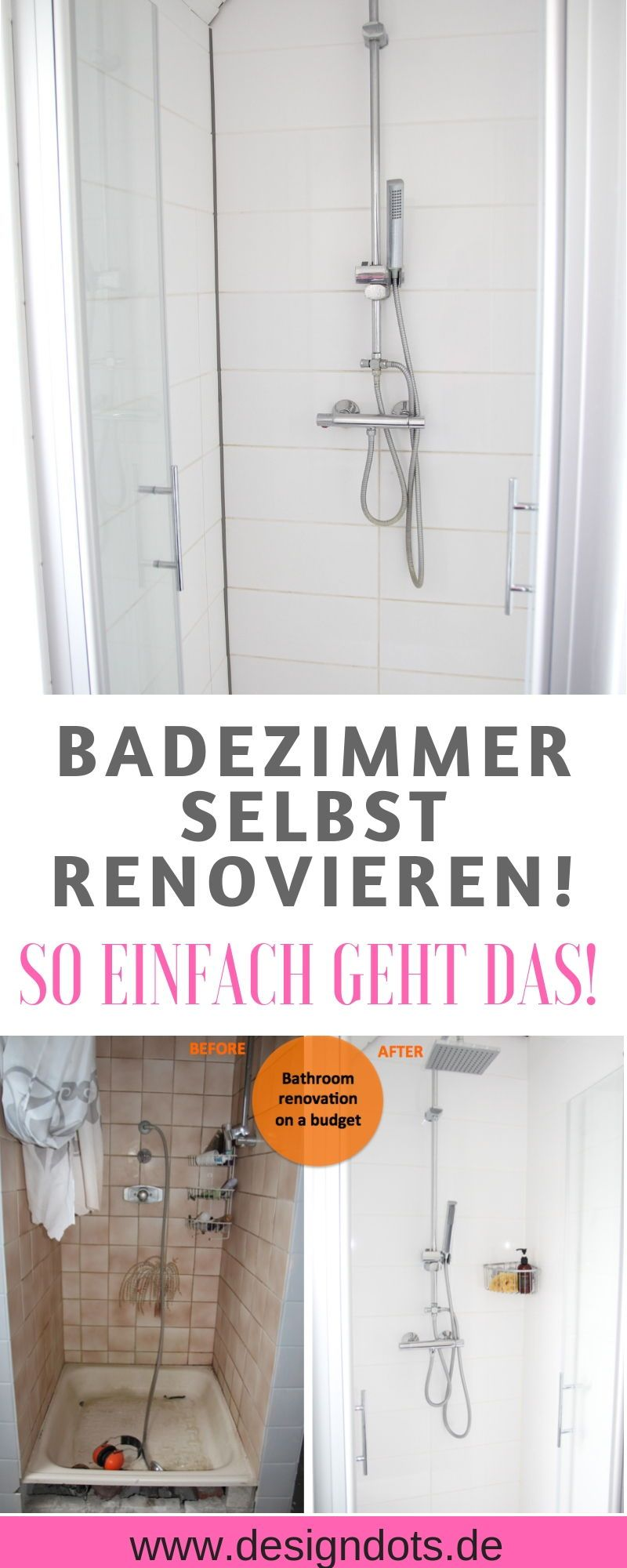 Badezimmer selbst renovieren: vorher/nachher | BAD Ideen ...