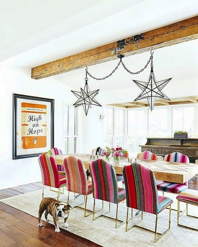 Those Chairs Brooklyn Decker And Andy Roddick Dining Room Texas Farmhouse