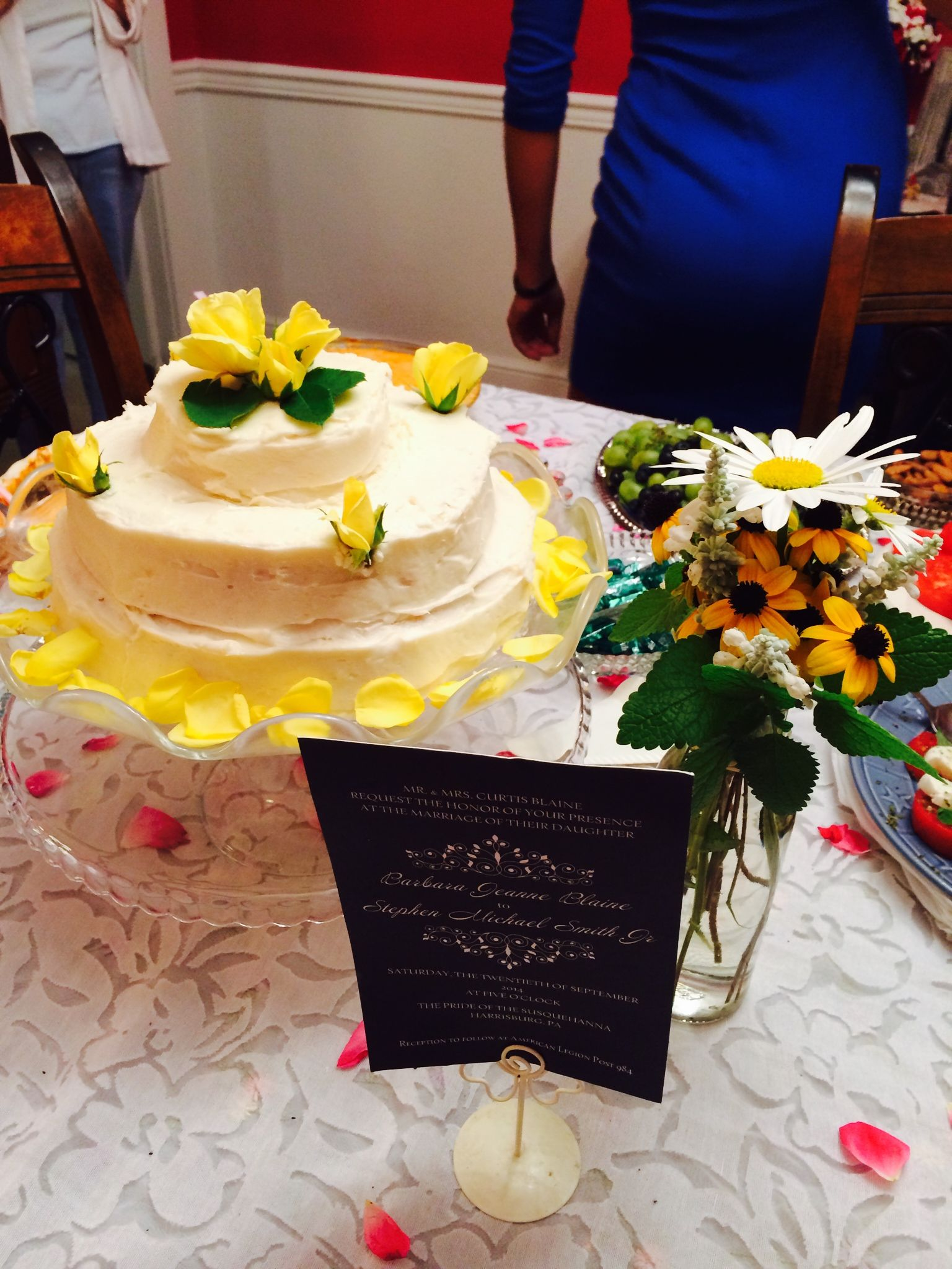 Buttercream cake for barbaras bridal shower with images
