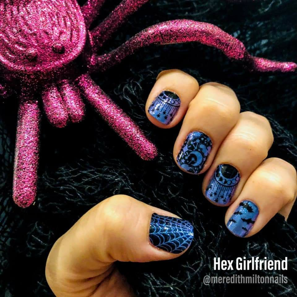 Pretty Blue to Purple Halloween Nail Design #colorstreet # ...