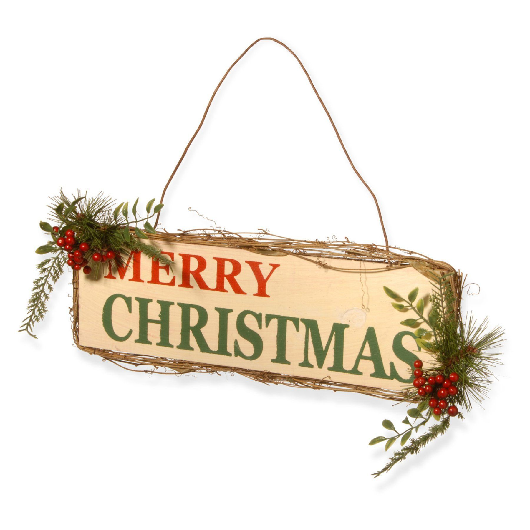 National Tree Company Door Hanger - Merry Christmas - RAC-PD030149 ...