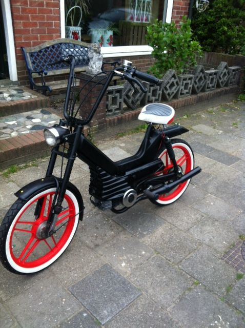 Puch Bobber style. We named here Black Betty! Special bike made by my husband