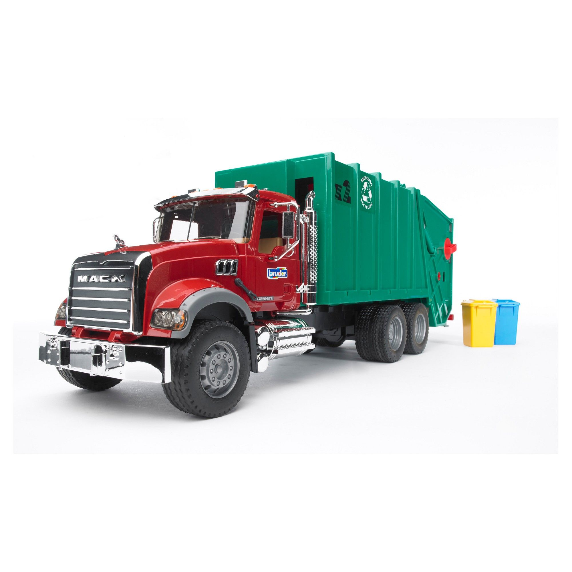 Bruder Toys Mack Granite Garbage Truck 1 16 Scale Realistic Functional Toy Garbage Collection Vehicle Garbage Truck Trucks Trucks Lifted Diesel