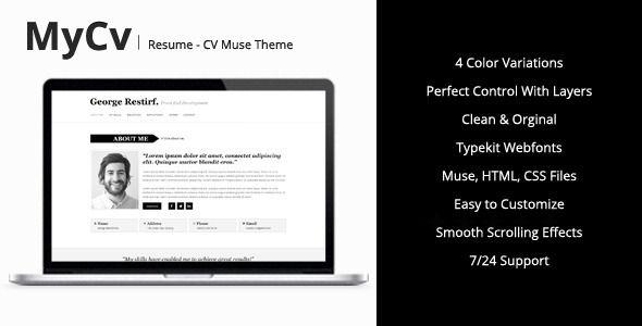 My Cv Resume My Cv  Resume Muse Template  Template