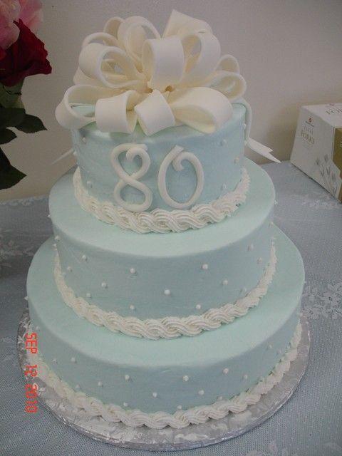 Simple Yet Very Pretty 80th Birthday Cake 80th Birthday Party