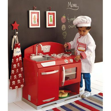Retro Play Kitchen We Love Our Red And The Little Chefs It