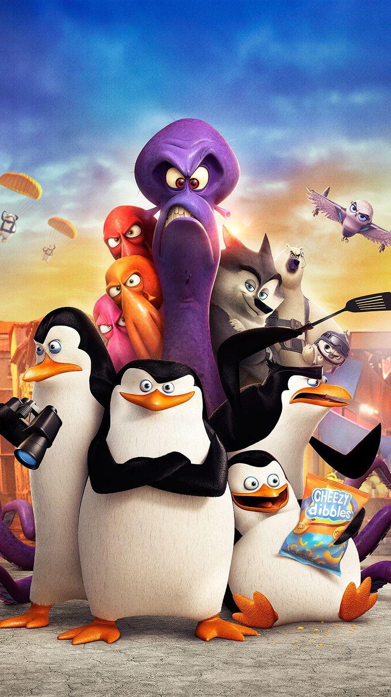Penguins of Madagascar (2014) Phone Wallpaper Cartoon
