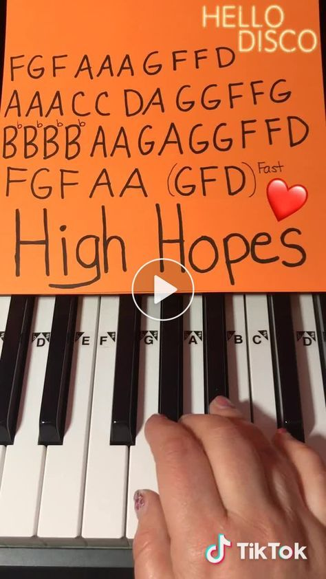How to play High Hopes on Piano by Panic! At The Disco �️ #Piano #highhopes #panicatthedisco