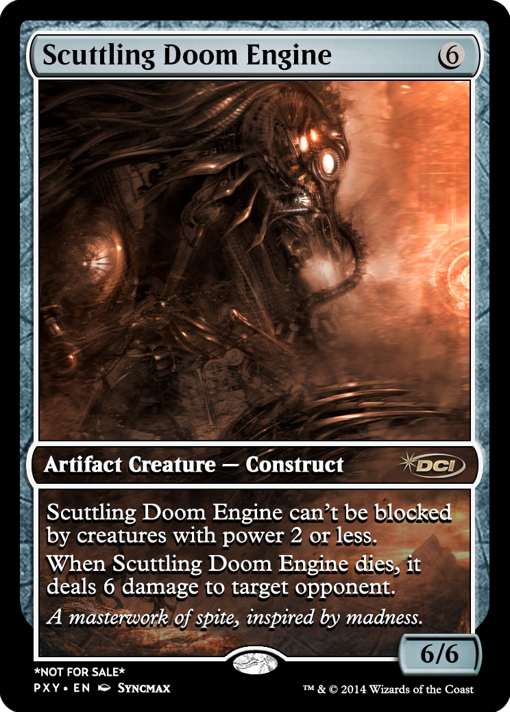Scuttling Doom Engine | Magic proxies | Magic the gathering cards