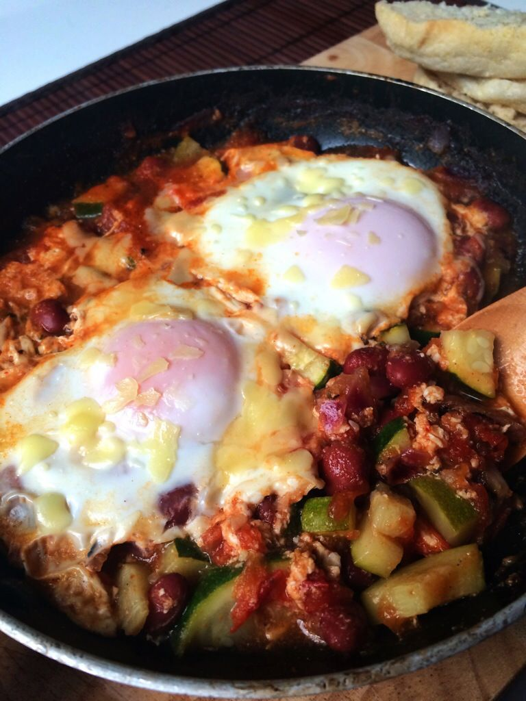 Eggs & Beans in Spicy Purgatory - Cafe Delites