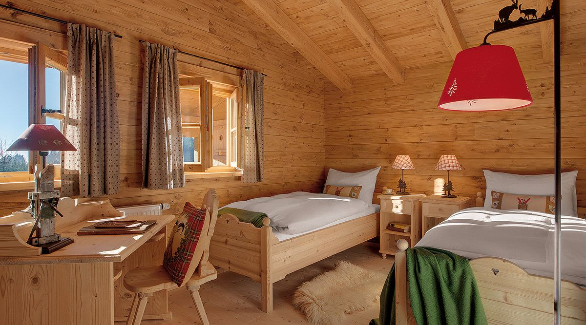 Inns Holz Chaletdorf Böhmerwald: Chalet Ulrichsberg, Hochficht ... Schlafzimmer Chalet
