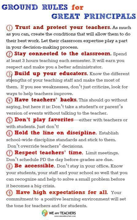 Rules for School Principals Principal Pinterest Principal - elementary school principal resume