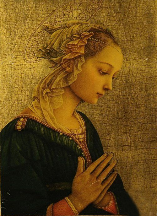 Filippo Lippi (1406-1469). For sheer beauty this is one of my favorite Renaissance paintings.