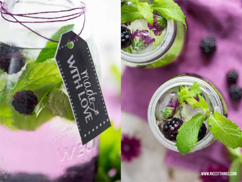 Volvic Blogparade: Blackberry Infused Water