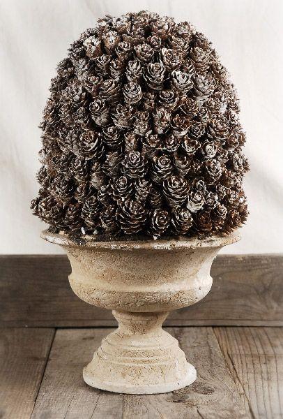 Natural Pine Cone Dome Pedestal  15 in. $29