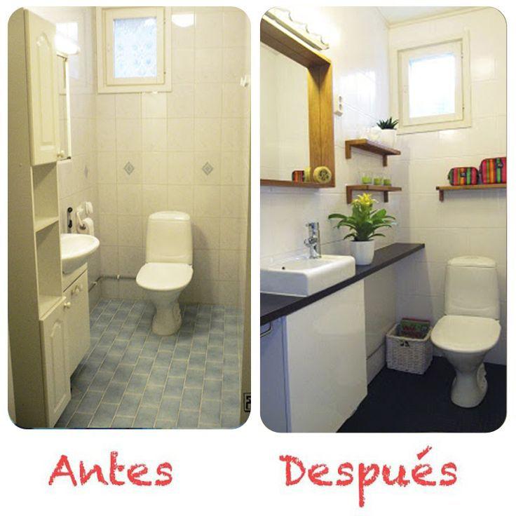 Pintura azulejos suelo vinilico nuevos muebles y - Revestimiento vinilico para banos ...