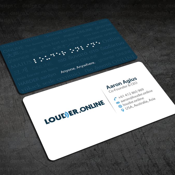 Freelance Show Louder Online What A Classy Business Card Looks